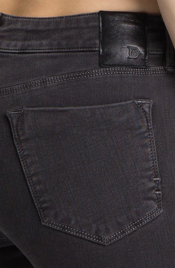 Alternate Image 3  - Dylan George Skinny Leg Jeans (Grey Floral)