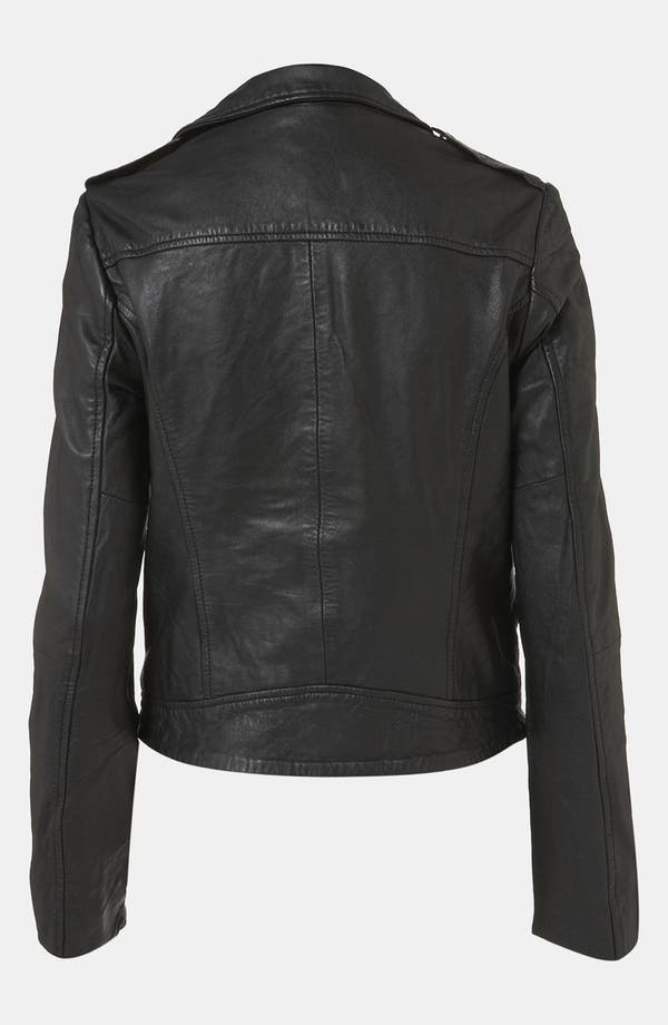 Alternate Image 2  - Topshop 'Winston' Leather Biker Jacket