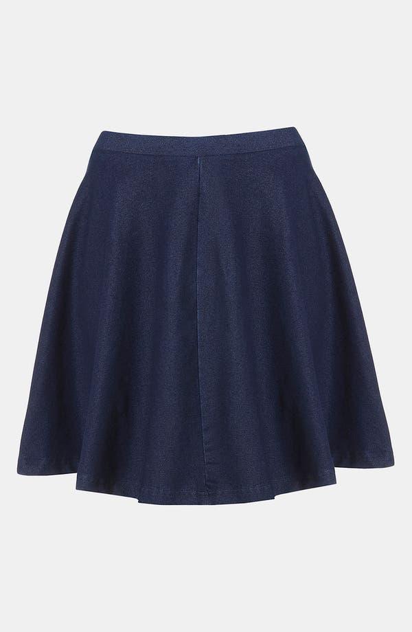 Main Image - Topshop 'Andie' Denim Skater Skirt