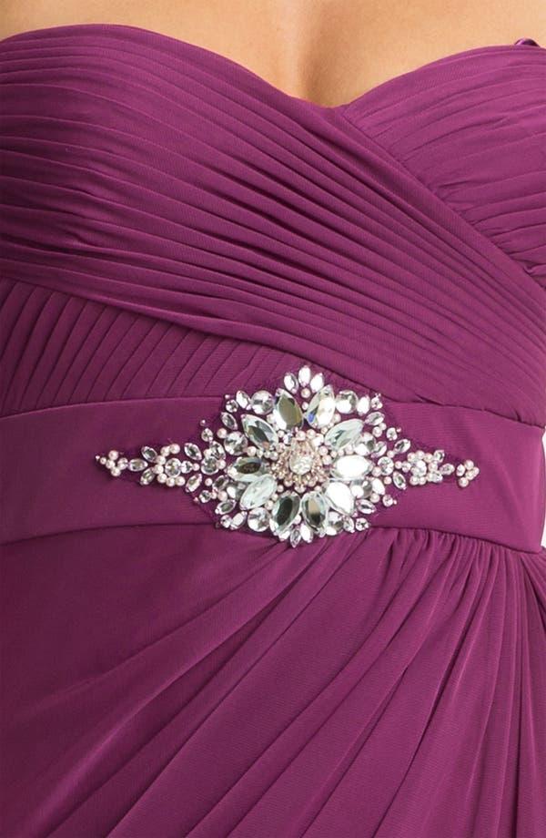 Alternate Image 3  - Adrianna Papell Strapless Draped Mesh Column Gown