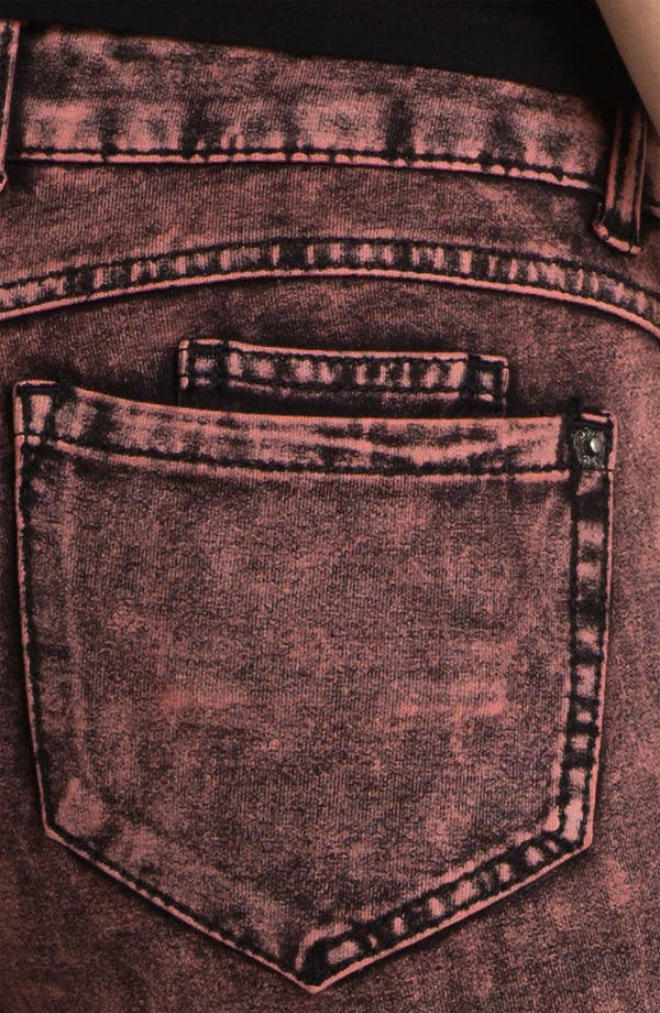 Alternate Image 3  - Jolt Acid Wash Ponte Skinny Pants (Juniors)