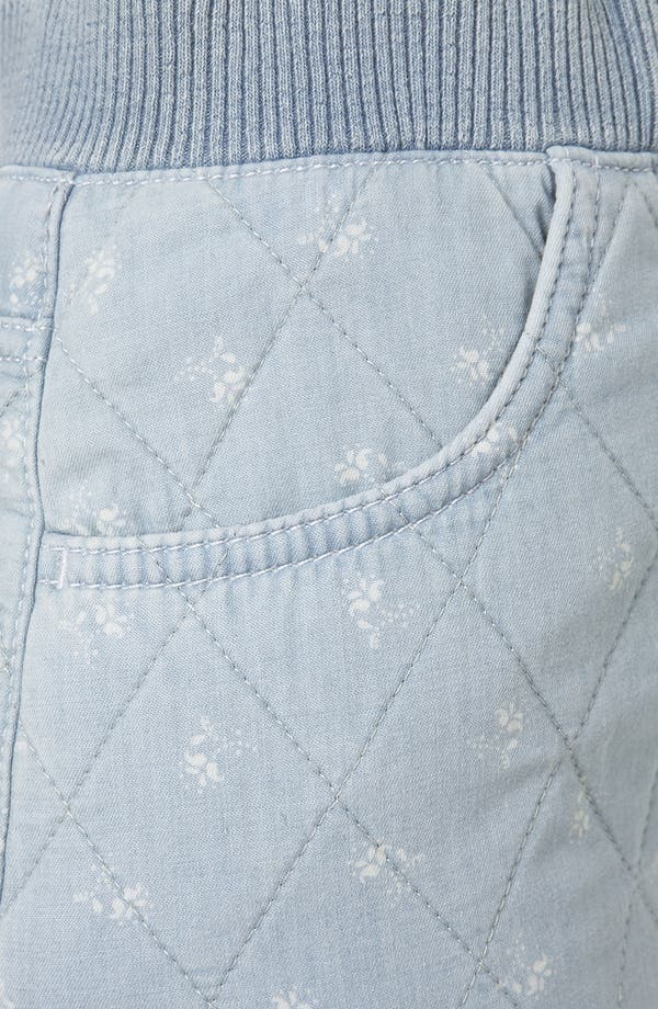 Alternate Image 3  - Topshop Moto Quilted Ditsy Denim Miniskirt