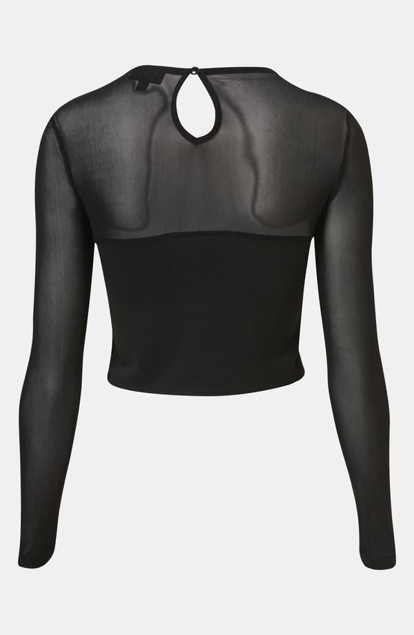 Alternate Image 2  - Topshop Lace Crop Top
