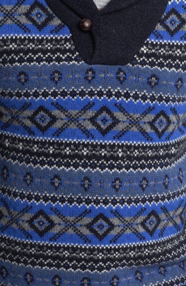 Alternate Image 3  - Brooks Brothers Shawl Collar Wool Sweater