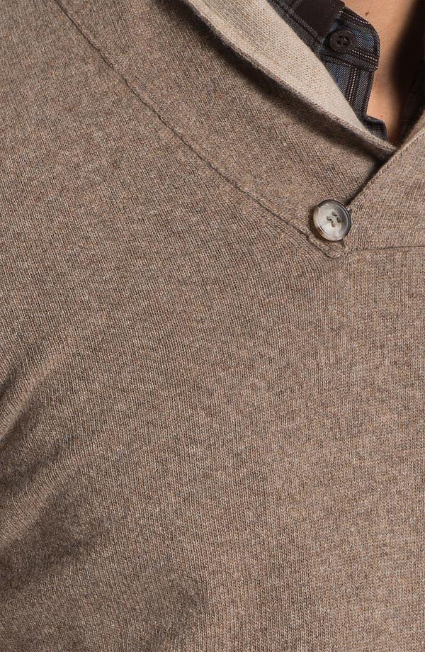 Alternate Image 3  - Orlandini Shawl Collar Wool & Cashmere Sweater