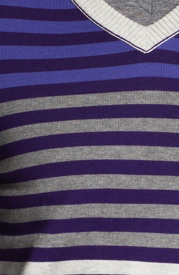 Alternate Image 3  - Public Opinion Stripe V-Neck Sweater