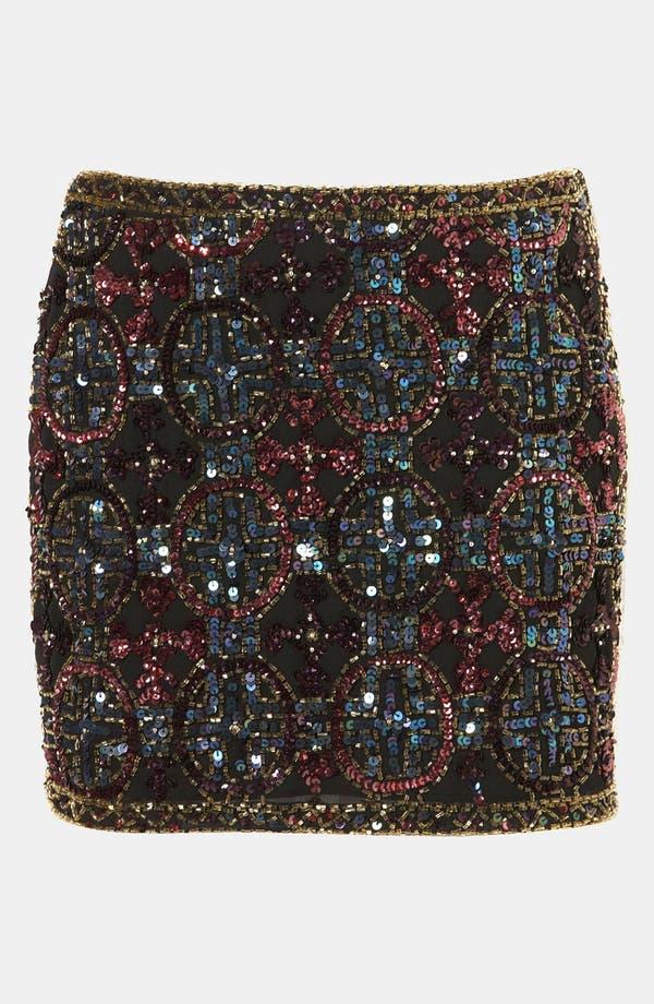 Main Image - Topshop Embellished Miniskirt