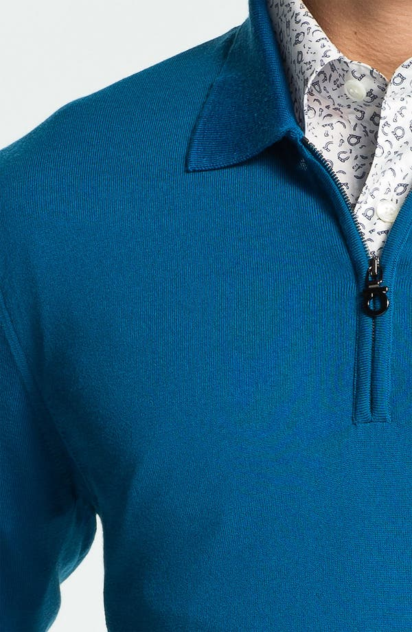 Alternate Image 3  - Salvatore Ferragamo Half Zip Wool Sweater