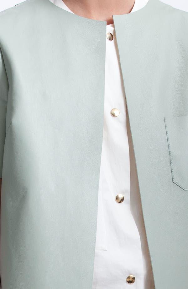 Alternate Image 3  - Marni Edition Gold Trim Lambskin Leather Coat