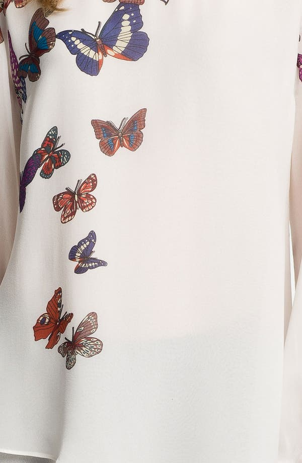 Alternate Image 3  - Citron Butterfly Print Silk Tunic
