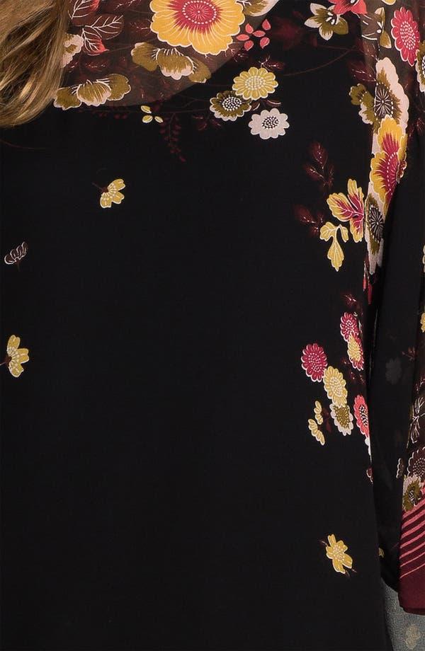 Alternate Image 3  - Citron Print Silk Tunic with Camisole