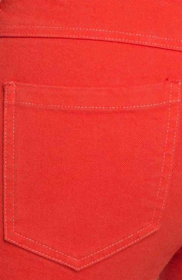 Alternate Image 3  - Haute Hippie Feather Print Skinny Jeans