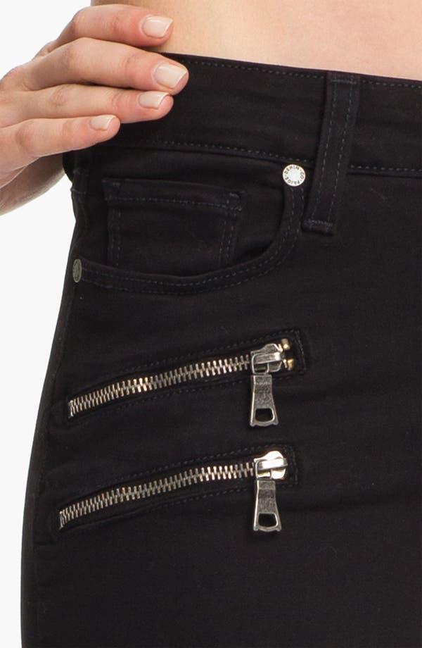 Alternate Image 4  - Paige Denim 'Edgemont' Skinny Jeans (Black)