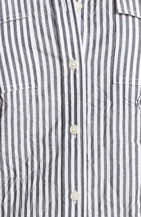 Alternate Image 3  - MICHAEL Michael Kors Roll Sleeve Stripe Shirt