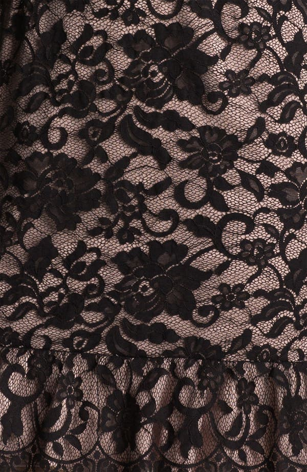 Alternate Image 3  - Xscape Scalloped Trim Lace Overlay Sheath Dress