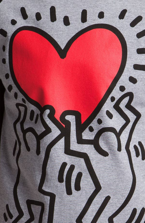 Alternate Image 3  - Obey 'Haring Heart' Graphic Baseball T-Shirt