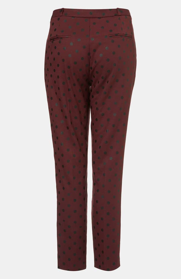 Alternate Image 2  - Topshop Polka Dot Cigarette Leg Pants