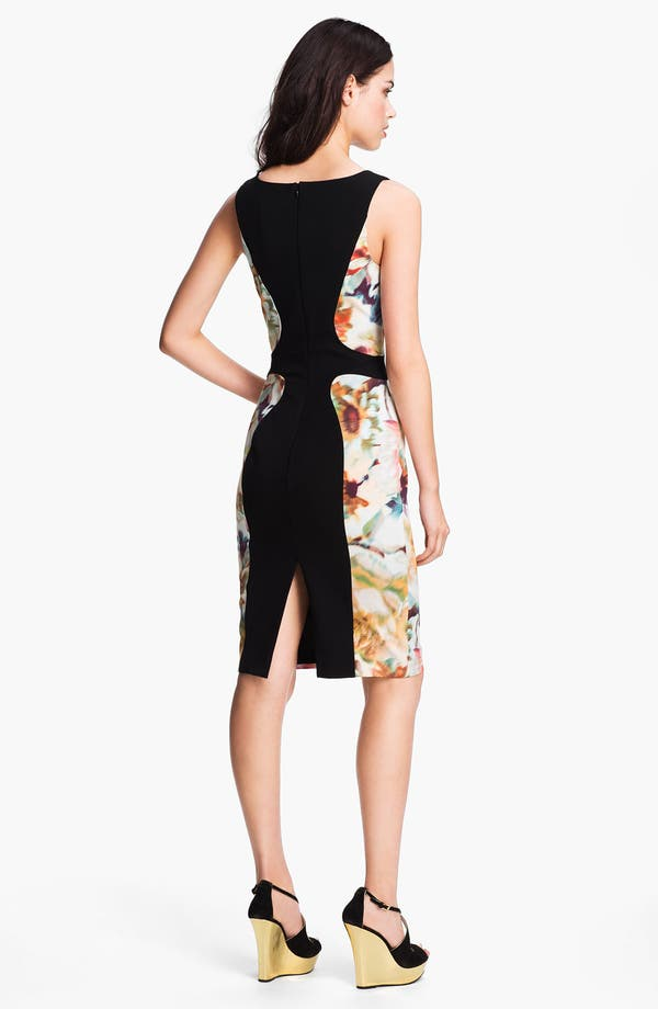 Alternate Image 2  - Black Halo 'Annabella' Contoured Colorblock Sheath Dress