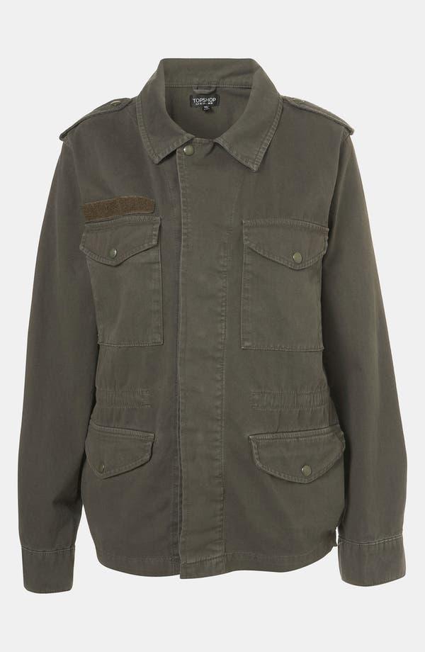 Alternate Image 4  - Topshop Military Jacket