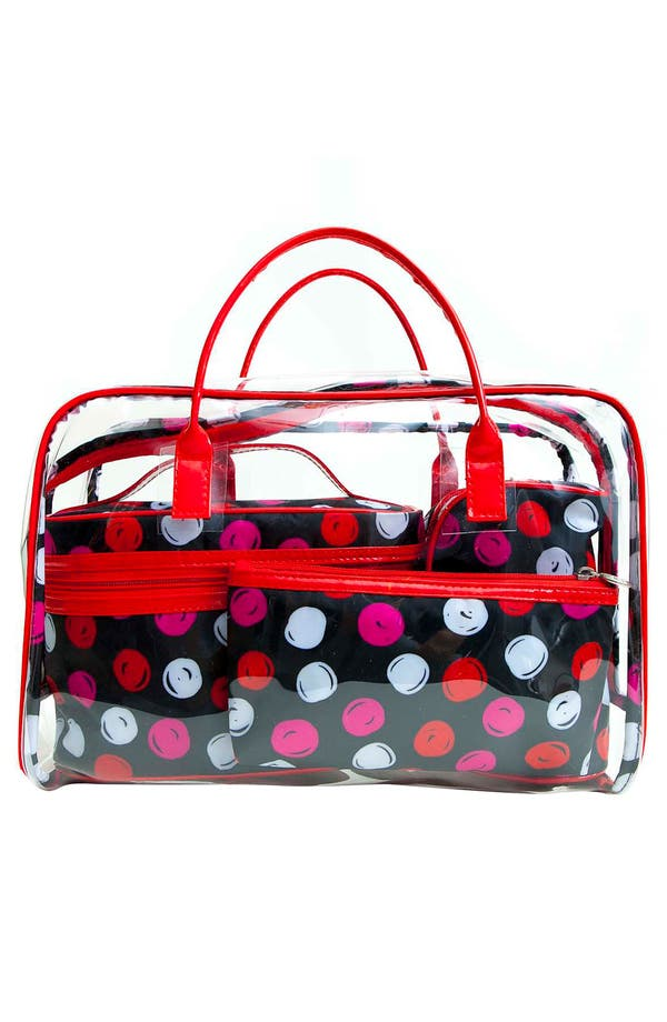 Alternate Image 5  - Tricoastal Design 'Dot' Cosmetics Bag Set