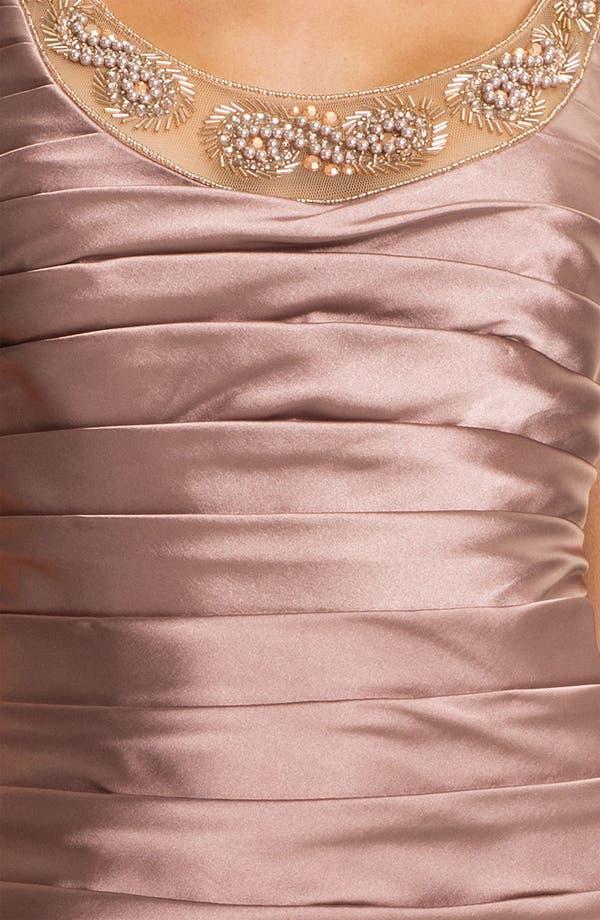 Alternate Image 4  - Adrianna Papell Reverse Pleat Satin Sheath Dress & Bolero (Petite)