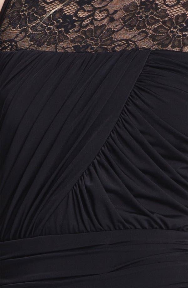 Alternate Image 3  - Jessica McClintock Illusion Yoke Ruched Jersey Minidress