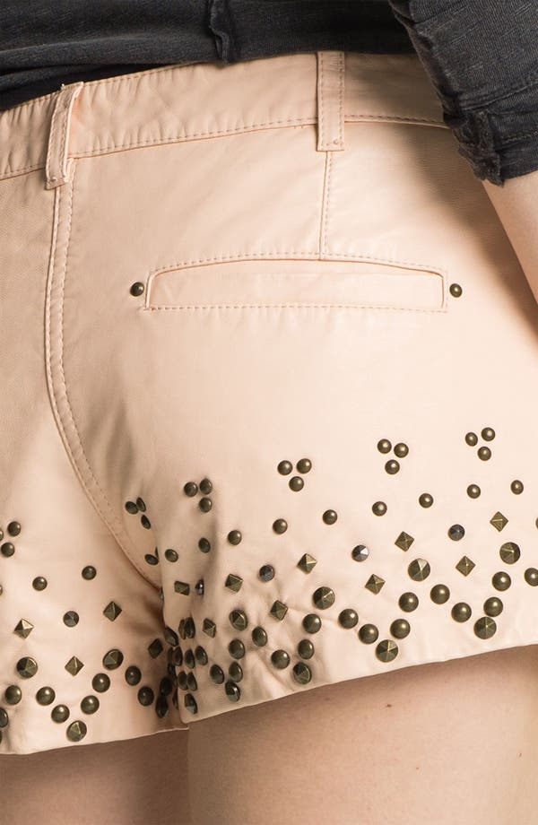 Alternate Image 3  - Free People Studded Faux Leather Shorts