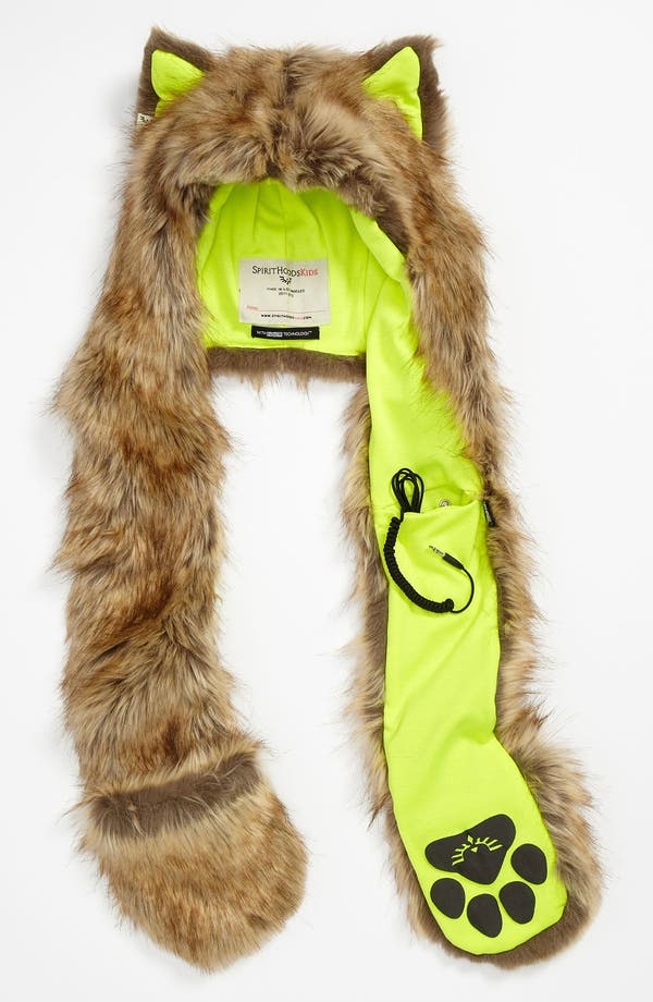 Alternate Image 1 Selected - SpiritHoods Faux Fur Animal Hat & Speakers (Girls)