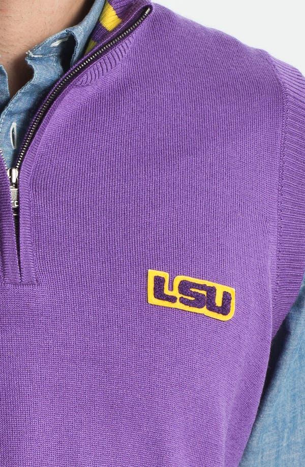 Alternate Image 3  - Thomas Dean 'Louisiana State University' Quarter Zip Sweater Vest