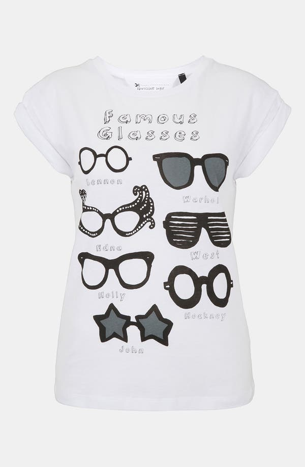 Alternate Image 1 Selected - Topshop 'Famous Glasses' Graphic Tee (Petite)