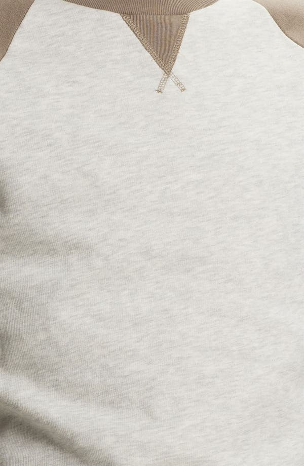 Alternate Image 3  - Topman Raglan Crewneck Sweatshirt