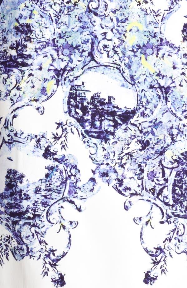 Alternate Image 3  - Erdem Milandes Print Crepe Back Satin Sheath Dress
