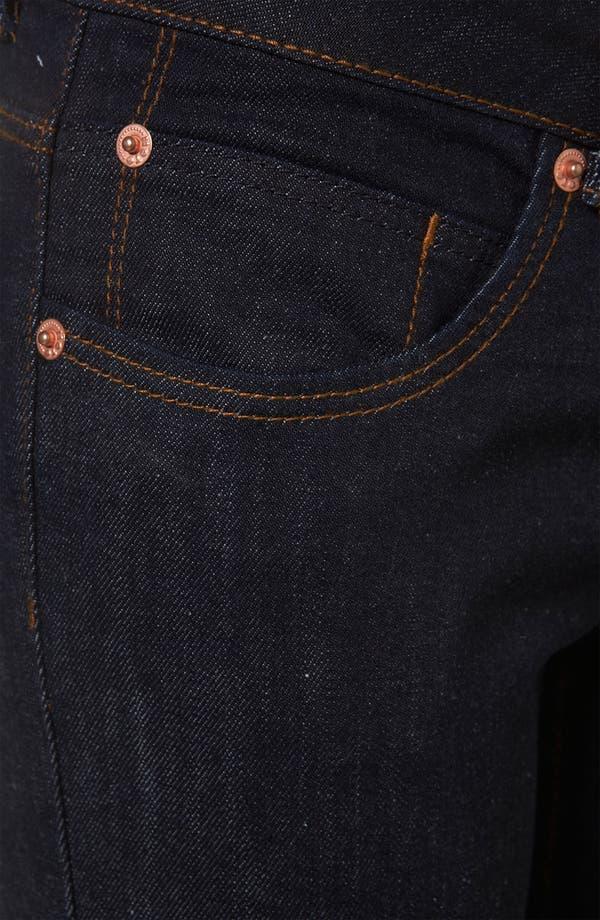 Alternate Image 3  - Topshop Moto 'Baxter' Skinny Jeans (Indigo)