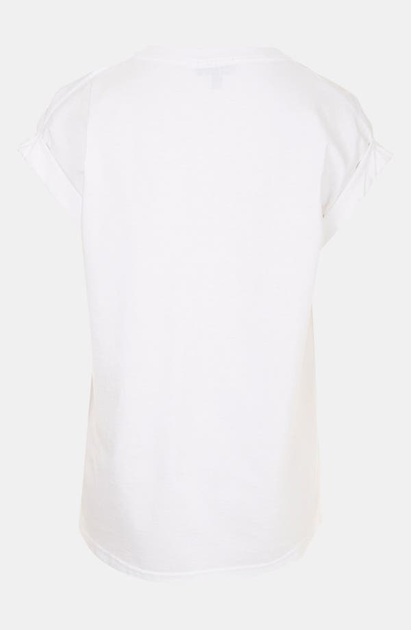 Alternate Image 2  - Topshop Elemental Stripe Graphic Tee