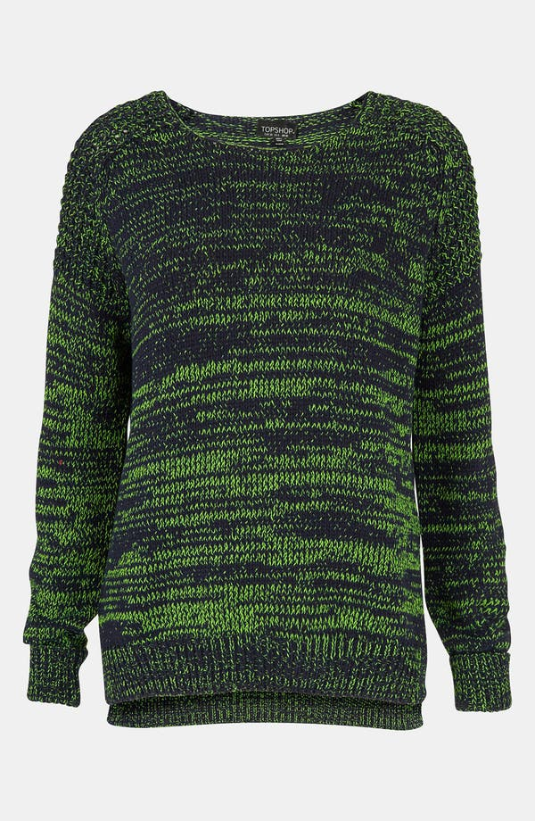 Main Image - Topshop Neon Mélange Sweater