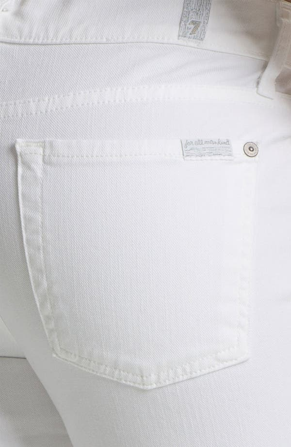 Alternate Image 3  - 7 For All Mankind® 'The Slim Cigarette' Stretch Jeans (Clean White)