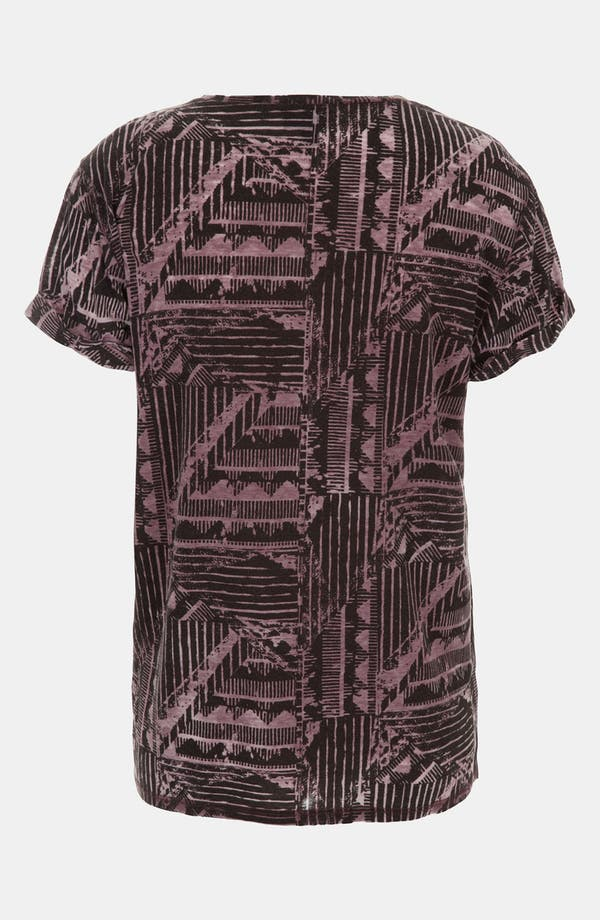Alternate Image 2  - Topshop Aztec Print Burnout Tee