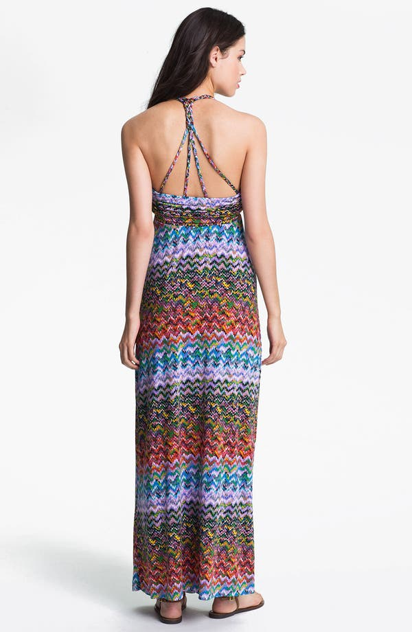 Alternate Image 2  - Tbags Los Angeles Braided Print Maxi Dress