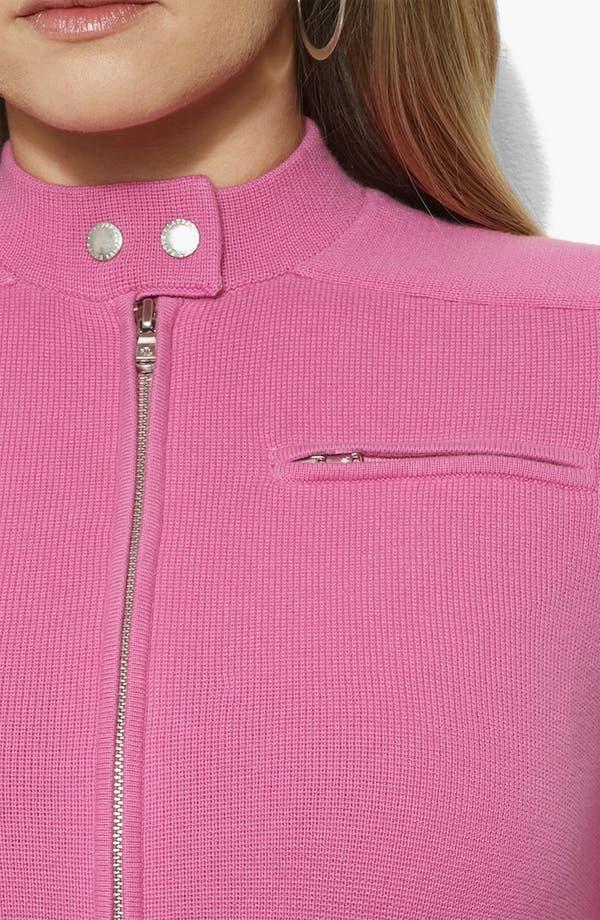Alternate Image 2  - Lauren Ralph Lauren Mock Neck Jacket (Plus)