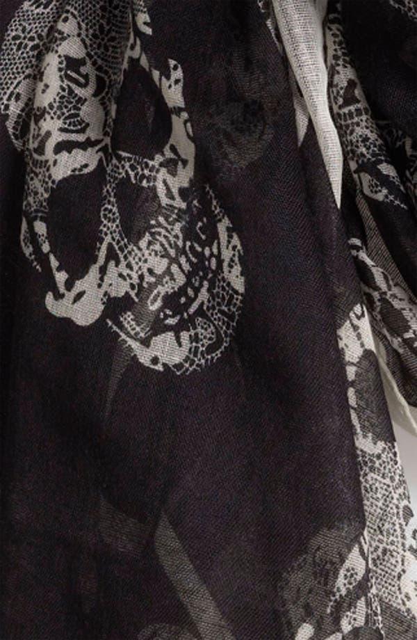Alternate Image 2  - BP. Sheer Skull Print Scarf