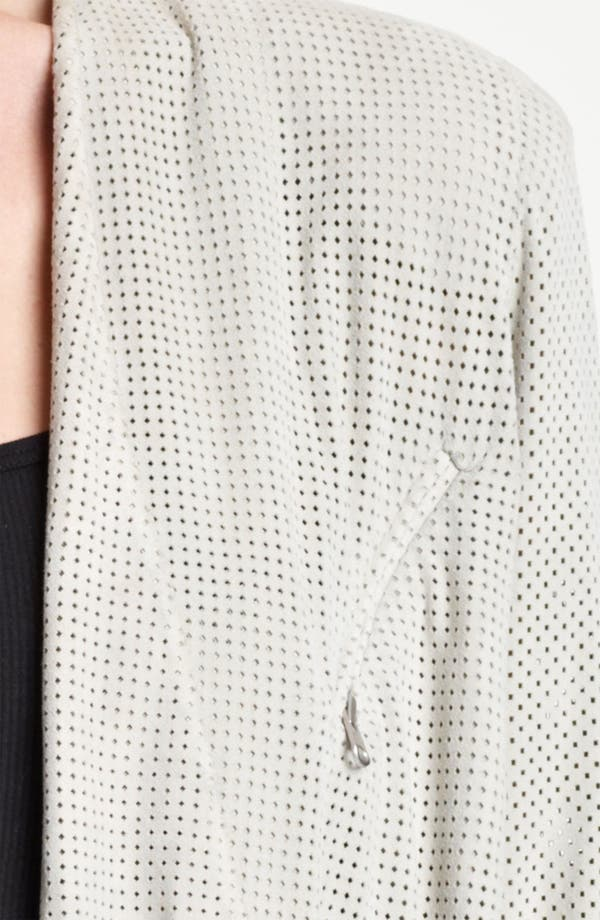 Alternate Image 3  - Donna Karan Collection Perforated Suede Jacket