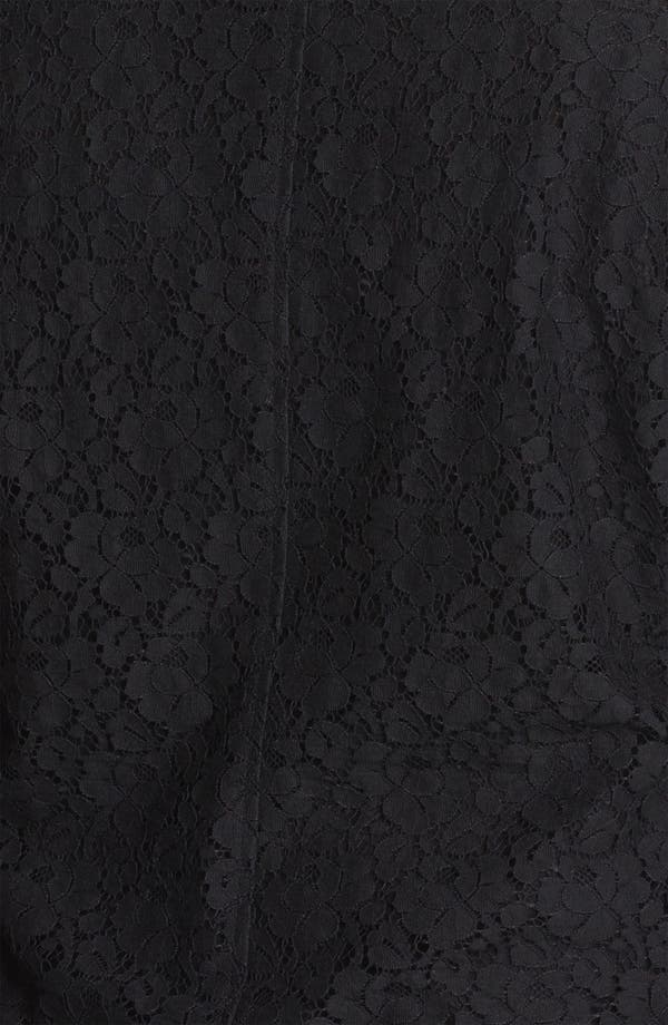 Alternate Image 3  - DKNYC Lace Motorcycle Jacket (Plus)