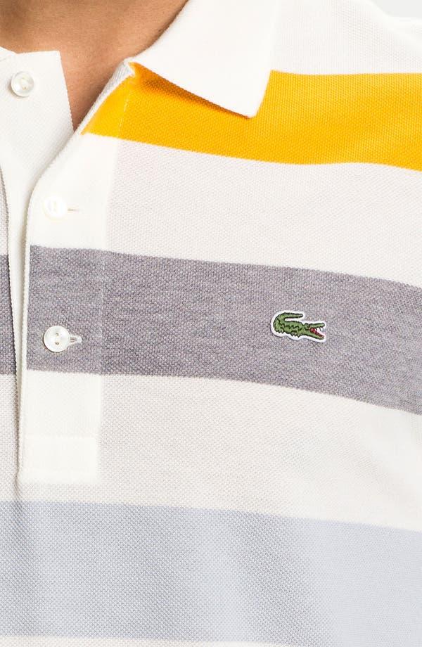 Alternate Image 3  - Lacoste Bar Stripe Piqué Polo