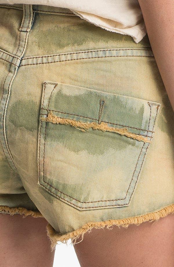 Alternate Image 3  - Free People Studded Camo Cutoff Denim Shorts (Castro)