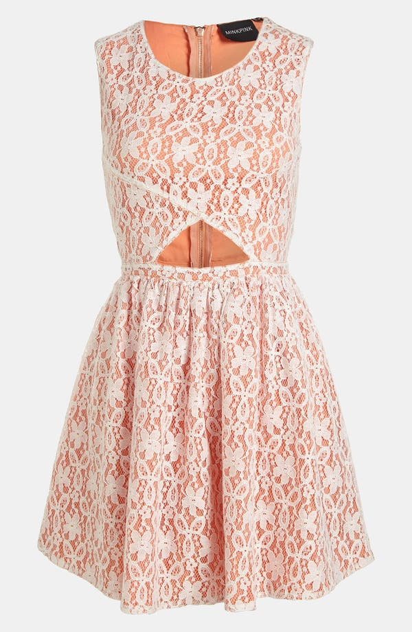 Main Image - MINKPINK 'Fanciful' Fit & Flare Lace Overlay Dress