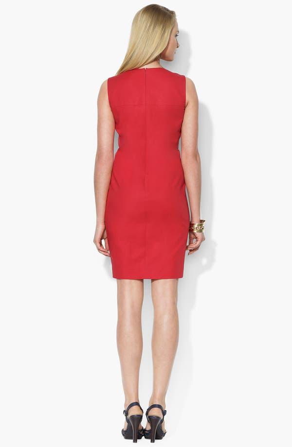 Alternate Image 2  - Lauren Ralph Lauren Crewneck Shift Dress (Petite) (Online Only)