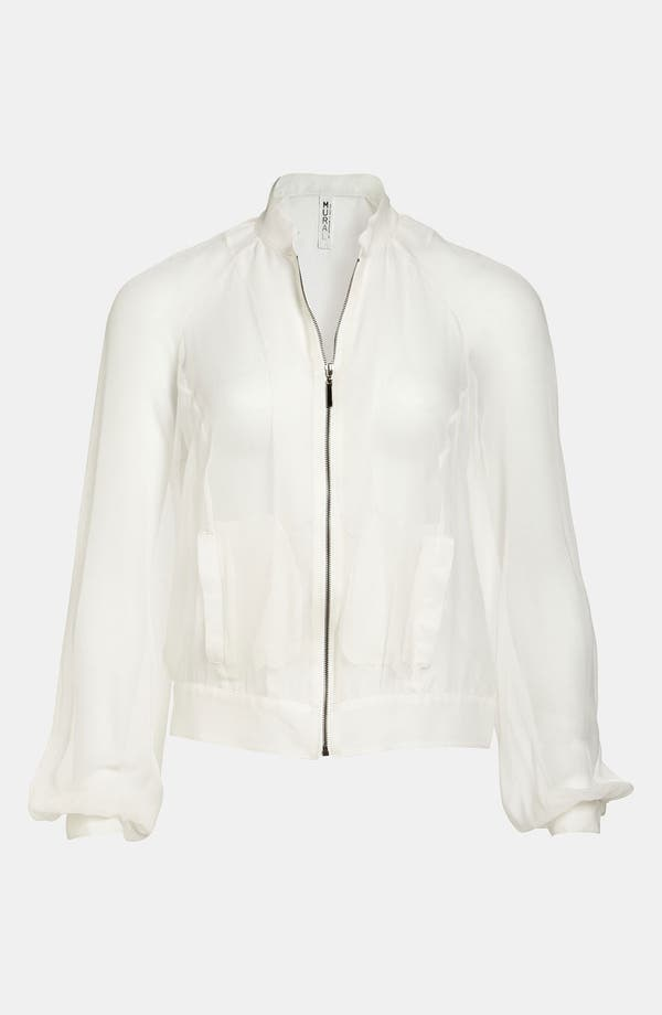 Alternate Image 1 Selected - Mural Sheer Chiffon Bomber Jacket