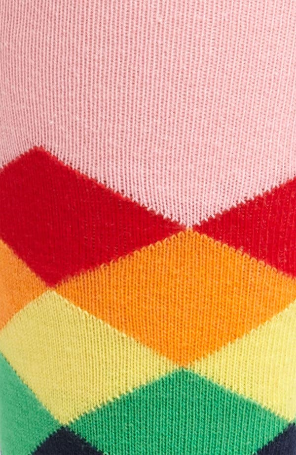 Alternate Image 2  - Happy Socks Patterned Combed Cotton Blend Socks