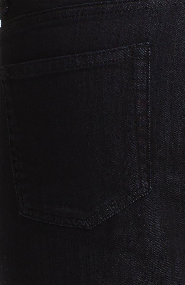 Alternate Image 4  - Z Zegna 'Metalized Effect' Straight Leg Jeans (Black)