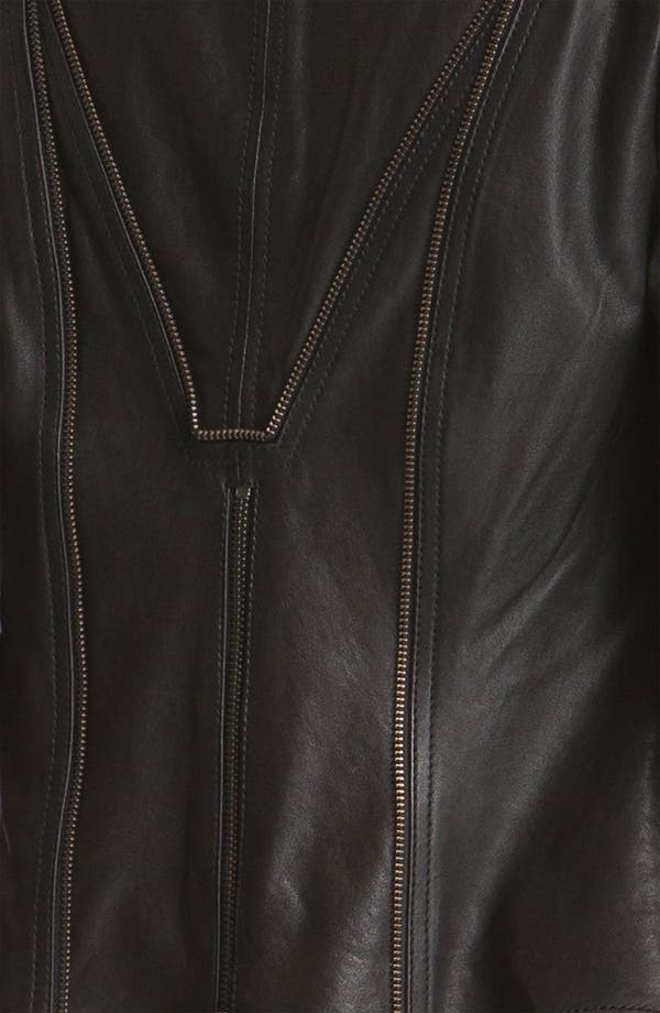 Alternate Image 5  - Haute Hippie Zip Front Leather Blazer